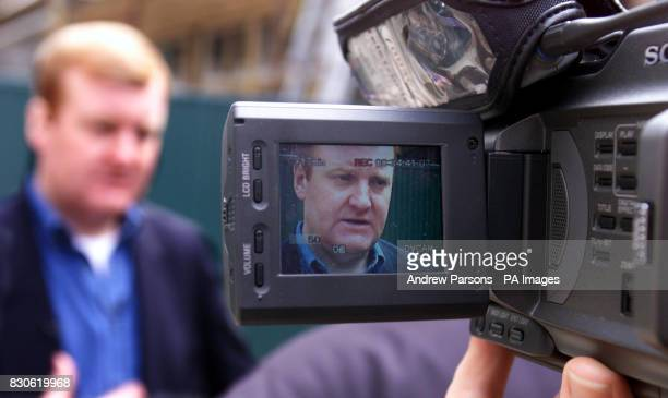 Leader of the Liberal Democrats Charles Kennedy being interviewed during his visit to The Beddington ZeroEnergy Site in Hackbridge Carshalton Surrey...