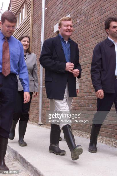 Leader of the Liberal Democrats Charles Kennedy in Wellington boots during his visit to The Beddington ZeroEnergy Site in Hackbridge Carshalton...
