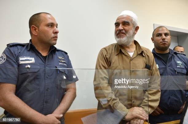 Leader of the Northern Branch of the Islamic Movement in Israel Sheikh Raed Salah appears in court after he was taken under custody on the grounds...