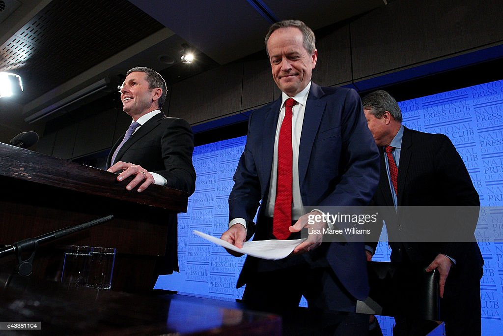 Leader of the Opposition, Australian Labor Party <a gi-track='captionPersonalityLinkClicked' href=/galleries/search?phrase=Bill+Shorten&family=editorial&specificpeople=606712 ng-click='$event.stopPropagation()'>Bill Shorten</a> arrives at the National Press Club on June 28, 2016 in Canberra, Australia. <a gi-track='captionPersonalityLinkClicked' href=/galleries/search?phrase=Bill+Shorten&family=editorial&specificpeople=606712 ng-click='$event.stopPropagation()'>Bill Shorten</a> used the opportunity to announce that the first bill he will put to Parliament if voted in on July 2 will be for marraige equality.