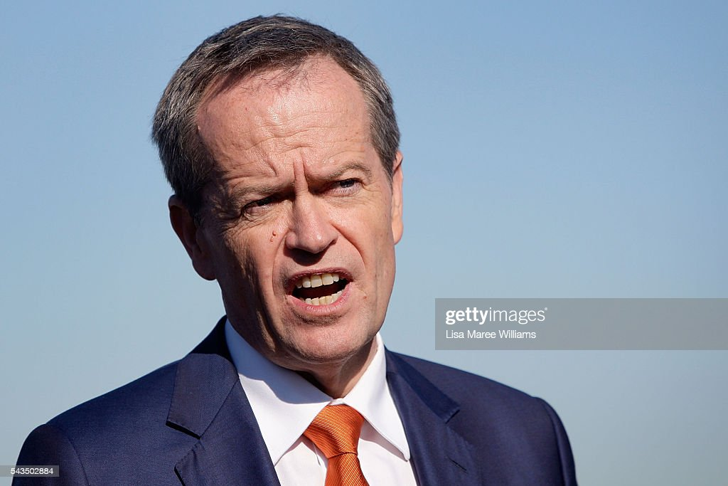 Leader of the Opposition, Australian Labor Party <a gi-track='captionPersonalityLinkClicked' href=/galleries/search?phrase=Bill+Shorten&family=editorial&specificpeople=606712 ng-click='$event.stopPropagation()'>Bill Shorten</a> speaks to the media at Port Botany on June 29, 2016 in Sydney, Australia. <a gi-track='captionPersonalityLinkClicked' href=/galleries/search?phrase=Bill+Shorten&family=editorial&specificpeople=606712 ng-click='$event.stopPropagation()'>Bill Shorten</a> is campaigning heavily on Medicare, promising to make sure it isn't privatised if the Labor Party wins the Federal Election on July 2.