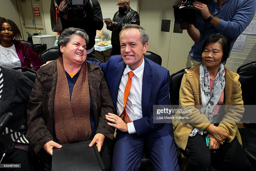 Leader of the Opposition, Australian Labor Party <a gi-track='captionPersonalityLinkClicked' href=/galleries/search?phrase=Bill+Shorten&family=editorial&specificpeople=606712 ng-click='$event.stopPropagation()'>Bill Shorten</a> visits Riverwood Community Centre in Canterbury on June 29, 2016 in Sydney, Australia. <a gi-track='captionPersonalityLinkClicked' href=/galleries/search?phrase=Bill+Shorten&family=editorial&specificpeople=606712 ng-click='$event.stopPropagation()'>Bill Shorten</a> is campaigning heavily on Medicare, promising to make sure it isn't privatised if the Labor Party wins the Federal Election on July 2.