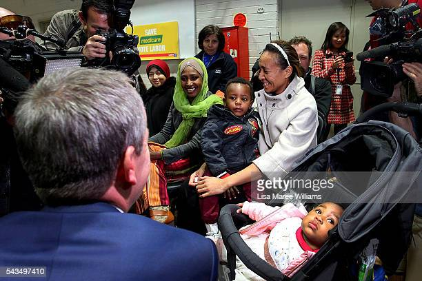 Leader of the Opposition Australian Labor Party Bill Shorten visits Riverwood Community Centre in Canterbury on June 29 2016 in Sydney Australia Bill...