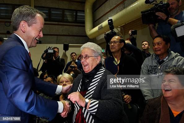 Leader of the Opposition Australian Labor Party Bill Shorten visits Riverwood Community Centre in Canterbury on June 29 2016 in Sydney Australia Bill...