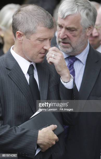 Leader of the Scottish Liberal Democrats Willie Rennie and Holyrood Presiding Officer Alex Fergusson attend the funeral of former Scottish Tory...