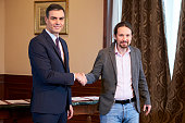 ESP: The Leaders Of Spain's Socialist And Unidas Podemos Parties Meet To Agree A Coalition