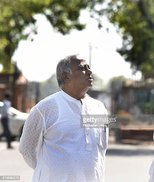 TMC leader Saugata Roy at Parliament during the ongoing Budget Session on March 14 2016 in New Delhi India The Lok Sabha Ethics Committee headed by...