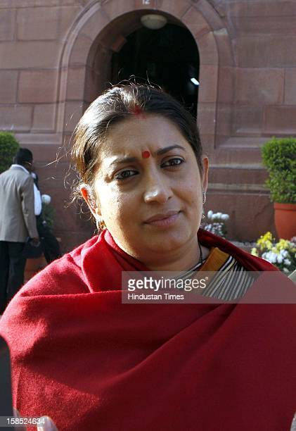 BJP leader Smriti Irani was upset over the Gang Rape in Private Bus in Delhi talking to the media persons after attending the Winter Session of the...