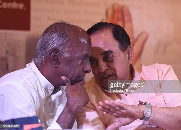 BJP leader Subramanian Swamy and BJP leader Govindacharya during a seminar 'Lessons to be learnt from the Emergency ' organised by Virat Hindustan...