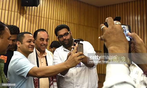 BJP leader Subramanian Swamy during a seminar 'Lessons to be learnt from the Emergency ' organised by Virat Hindustan Sangam at India International...