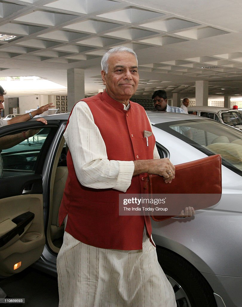 BJP leader <a gi-track='captionPersonalityLinkClicked' href=/galleries/search?phrase=Yashwant+Sinha&family=editorial&specificpeople=227891 ng-click='$event.stopPropagation()'>Yashwant Sinha</a> at JPC meeting in New Delhi on Thursday, March 24 2011.