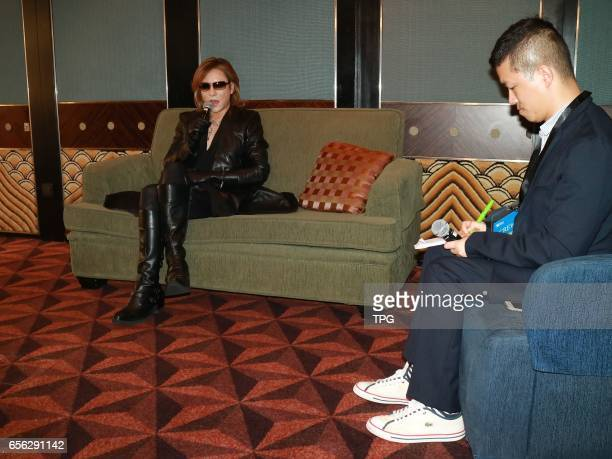 X JAPAN leader YOSHIKI attends 11th Asian Film Awards on 21th March 2017 in Hongkong China