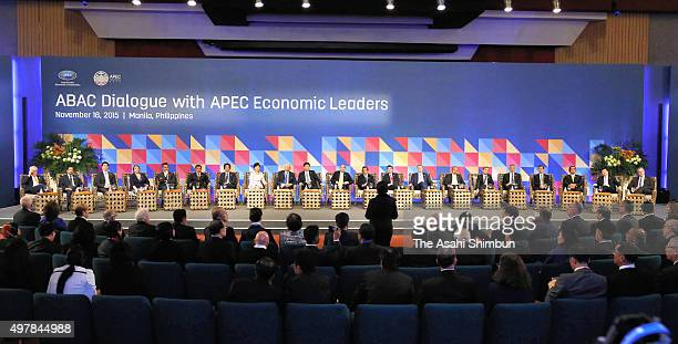 APEC leaders attend the APEC Business Advisory Council on November 18 2015 in Manila Philippines AsiaPacific leaders are meeting in Manila for a...