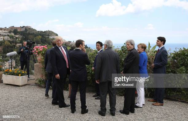 G7 leaders Canadian Prime Minister Justin Trudeau French President Emmanuel Macron US President Donald Trump German Chancellor Angela Merkel Italian...