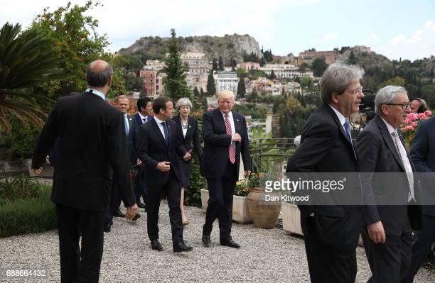 G7 leaders European Council President Donald Tusk Japanese Prime Minister Shinzo Abe British Prime Minister Theresa May French President Emmanuel...