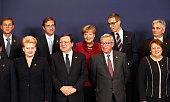 Leaders including German Chancellor Angela Merkel President of the European Commission Jose Barroso Presidentelect of the European Commission...