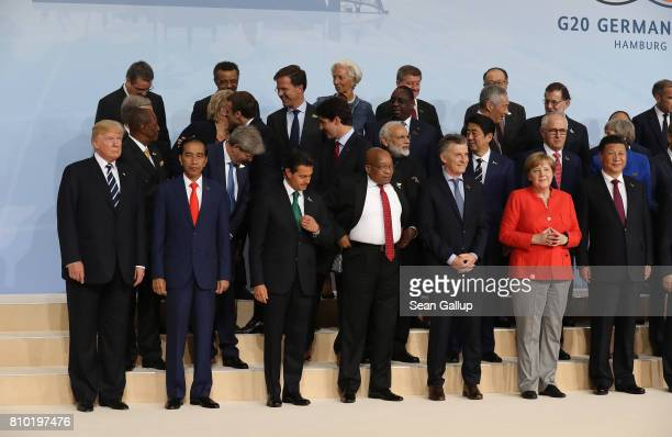 Leaders including US President Donald Trump Indonesian President Joko Widodo South African President Jacob Zuma German Chancellor Angela Merkel and...