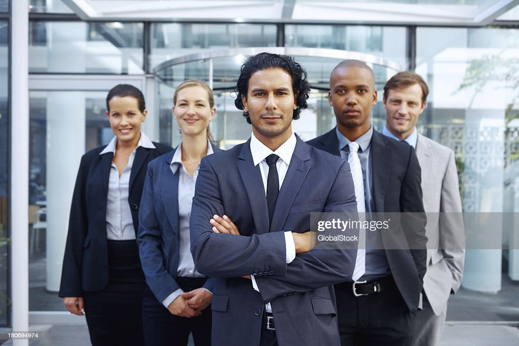 Leaders of the corporate world! : Stock Photo