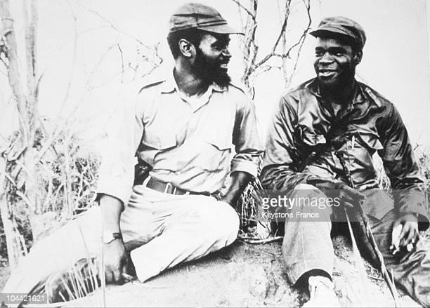 Leaders Of The Frelimo Eduardo Mondlaine And Samora Machel Circa 19621969
