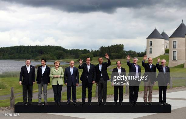 Leaders President of the European Commission Jose Manuel Barroso Japanese Prime Minister Shinzo Abe German Chancellor Angela Merkel Russia's...