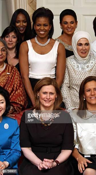 G20 leaders spouses and guests Sarah Brown wife of Britain's Prime Minister Gordon Brown Margarita Margarita Zavela wife of Mexican President Felipe...