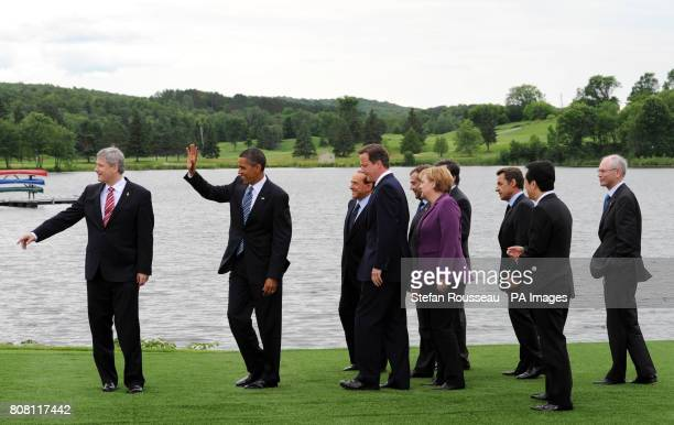 G8 Leaders Stephen Harper of Canada Barack Obama of the United States Silvio Berlusconi of Italy David Cameron of the United Kingdom Dmitry Medvedev...