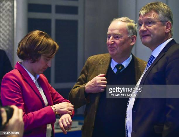 Leadership member of the Alternative for Germany farright party Beatrix von Storch the coleader of the AfD parliamentary group Alexander Gauland and...
