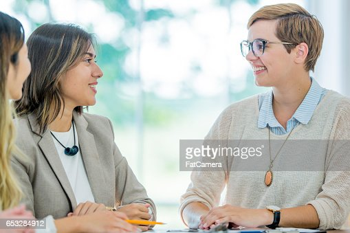 Leading a Meeting in a Boardroom : Foto stock