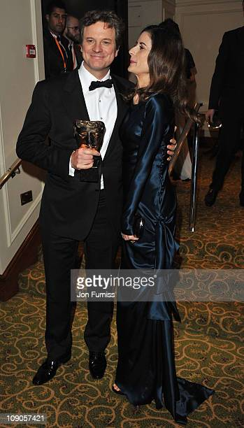 Leading Actor Colin Firth and Livia Giuggioli attend the official after party for Orange British Academy Film Awards at Grosvenor House on February...
