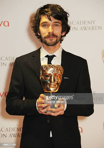 Leading Actor winner Ben Whishaw pose in the press room at the Arqiva British Academy Television Awards 2013 at the Royal Festival Hall on May 12...