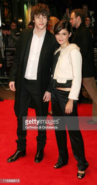Leading actors Gaspard Ulliel and Audrey Tautou during 'A Very Long Engagement' London Premiere at Odeon West End in London Great Britain