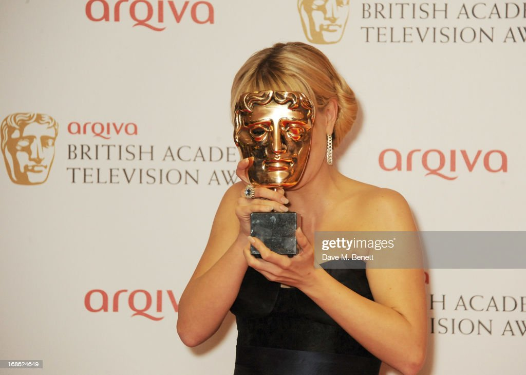 Leading Actress winner Sheridan Smith poses in the press room at the Arqiva British Academy Television Awards 2013 at the Royal Festival Hall on May 12, 2013 in London, England.
