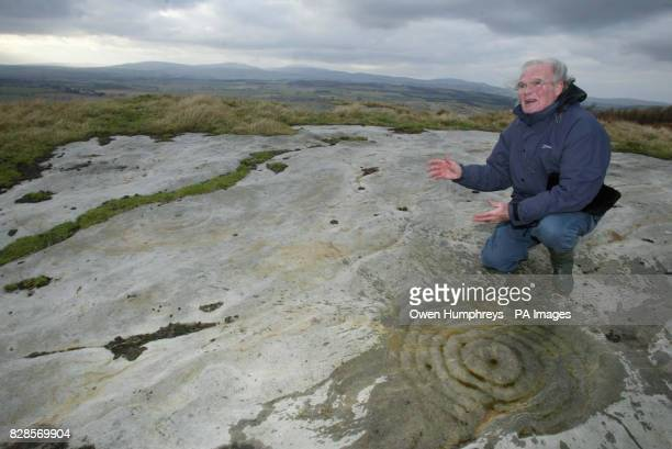 Leading expert and author Stan Beckenstall shows off some Britain s best examples of rock art thought to be upto 6000 years whose future in a field...