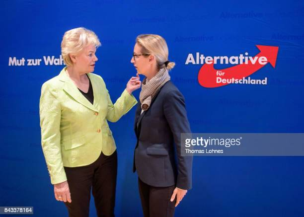 Leading members of the rightwing Alternative for Germany political party including colead candidate Alice Weidel as well as former Christian Democrat...
