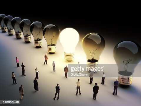 Leading the pack, ingenuity,standing out from the crowd concept. : Stock Photo