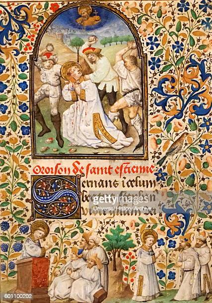 Leaf from a Book of Hours Dated 15th Century