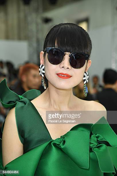 Leaf Greener attends the Giambattista Valli Haute Couture Fall/Winter 20162017 show as part of Paris Fashion Week on July 4 2016 in Paris France