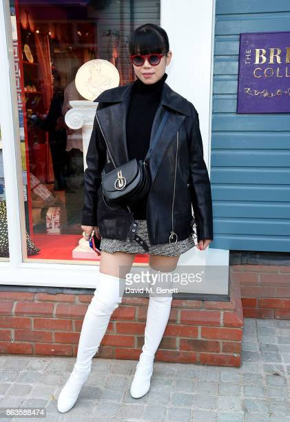 Leaf Greener attends the opening of the new Bicester Village and the launch of the British Collective at Bicester Village on October 20 2017 in...
