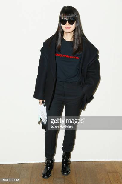 Leaf Greener attends the Paco Rabanne show as part of the Spring Summer 2018 Womenswear Show at Grand Palais on September 28 2017 in Paris France