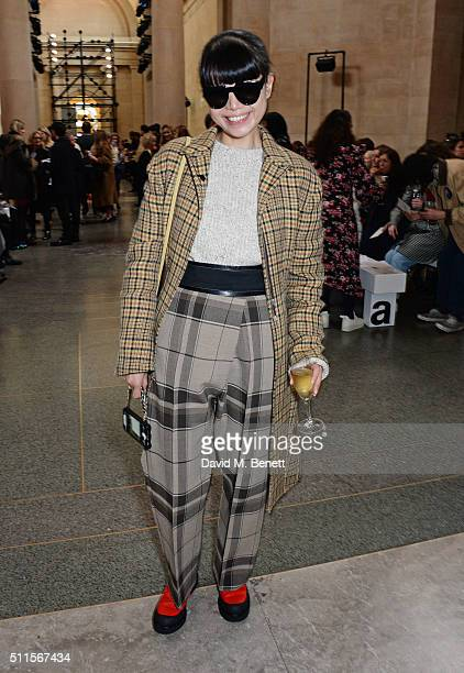 Leaf Greener attends the Topshop Unique at The Tate Britain on February 21 2016 in London England
