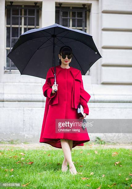 Leaf Greener during the Paris Fashion Week Womenswear Spring/Summer 2016 on October 5 2015 in Paris France