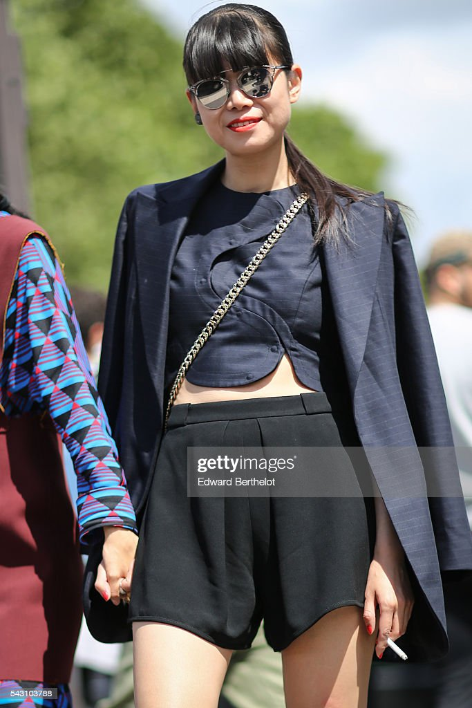 <a gi-track='captionPersonalityLinkClicked' href=/galleries/search?phrase=Leaf+Greener&family=editorial&specificpeople=10525955 ng-click='$event.stopPropagation()'>Leaf Greener</a> is seen, after the Dior show, during Paris Fashion Week Menswear Spring/summer 2017, on June 25, 2016 in Paris, France.