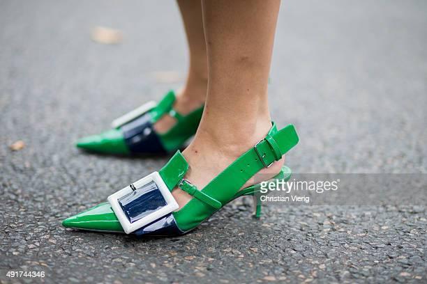 Leaf Greener wearing Miu Miu at Miu Miu during the Paris Fashion Week Womenswear Spring/Summer 2016 on Oktober 7 2015 in Paris France