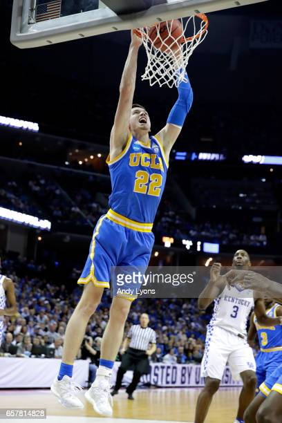 Leaf of the UCLA Bruins dunks in the first half against the Kentucky Wildcats during the 2017 NCAA Men's Basketball Tournament South Regional at...