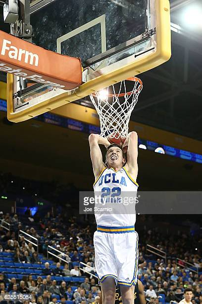 Leaf of the UCLA Bruins dunks the ball during a 11470 win against the Long Beach State 49ers at Pauley Pavilion on November 20 2016 in Los Angeles...