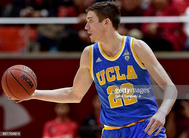 Leaf of the UCLA Bruins looks to pass the ball in the second half of their 8382 win over the Utah Utes at the Jon M Huntsman Center on January 14...