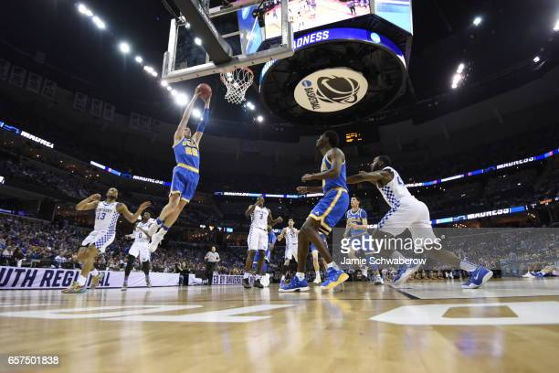 Leaf of UCLA dunks against the North Carolina Tar Heels during the 2017 NCAA Men's Basketball Tournament at FedExForum on March 24 2017 in Memphis...