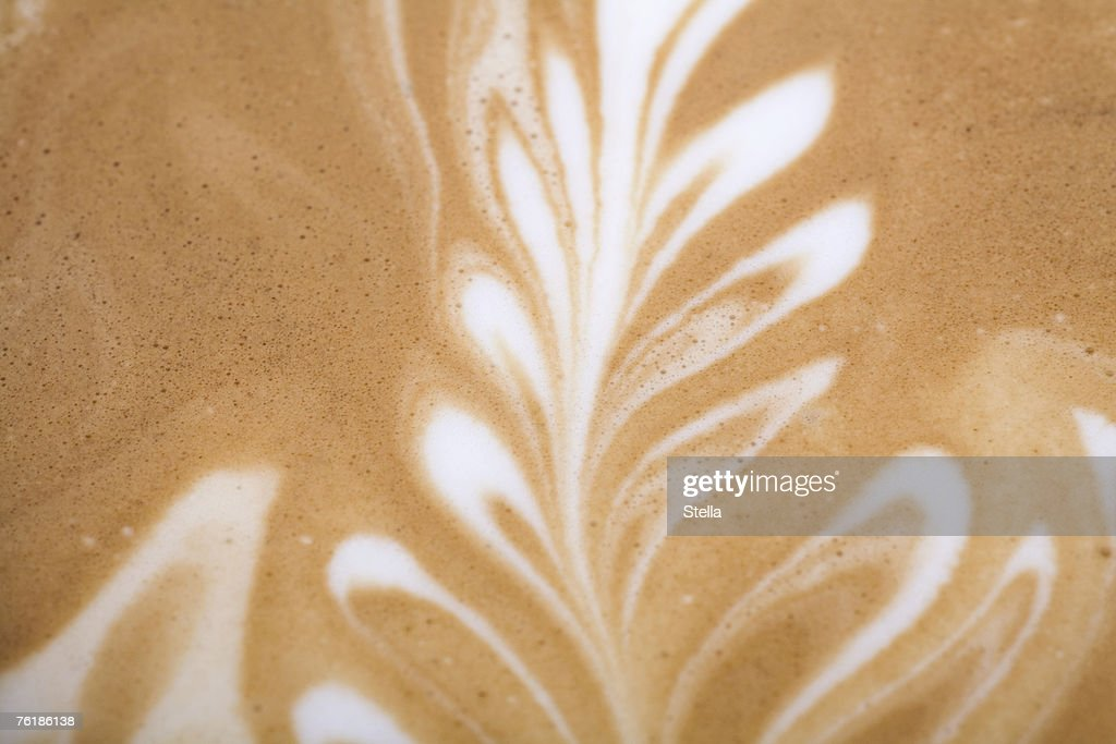 Leaf pattern on a Latte