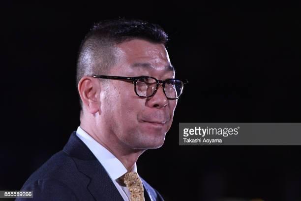 B League chairman Masaaki Okawa looks on prior to the BLeague game between Tochigi Brex and Seahorses Mikawa at Brex Arena Utsunomiya on September 29...