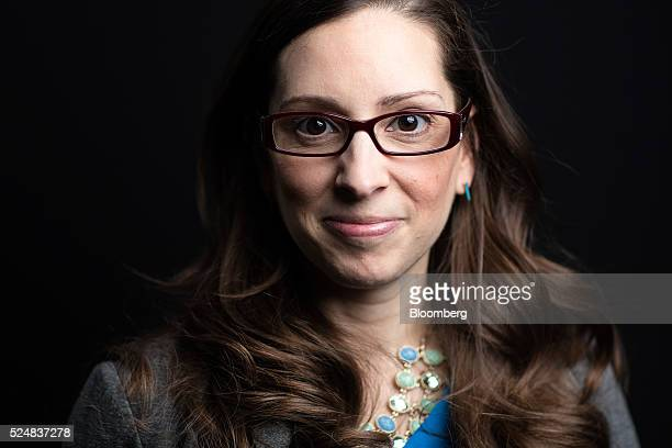 Leah Busque chairman and founder of TaskRabbit Inc poses for a photograph following a Bloomberg Television interview in London UK on Wednesday April...
